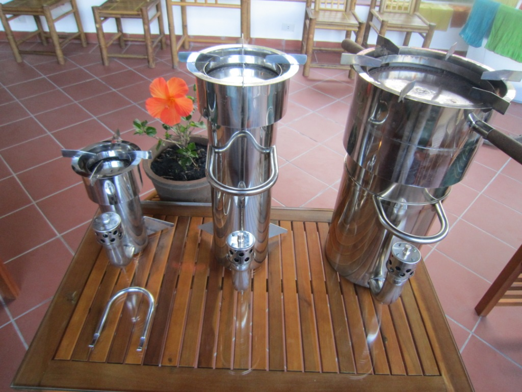 Gasifier stoves in 3 sizes